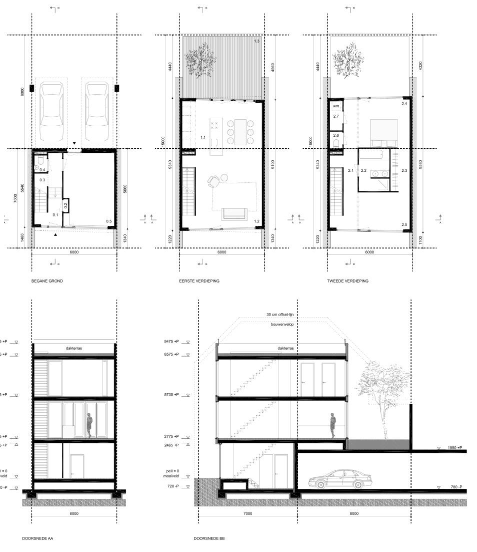 Plattegrond Keuken Ontwerpen : Zelf je huis bouwen – renderings en tekeningen van voorlopig ontwerp